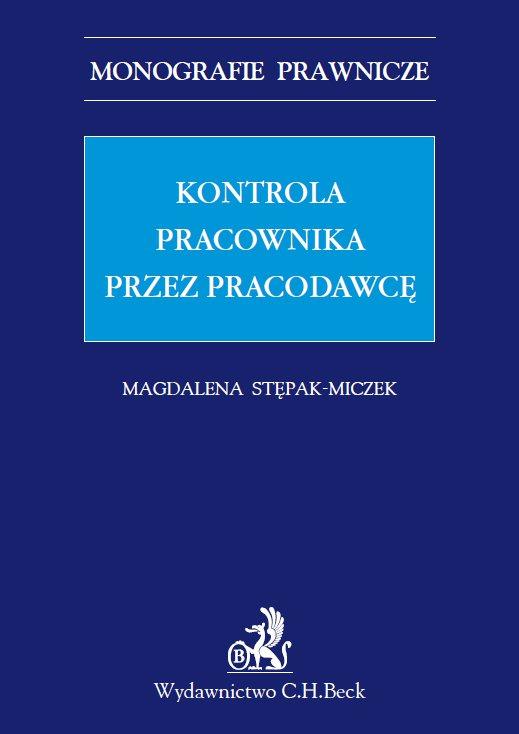 Kontrola pracownika przez pracodawcę - Ebook (Książka PDF) do pobrania w formacie PDF