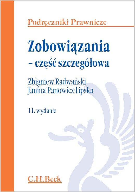 Zobowiązania - część szczegółowa. Wydanie 11 - Ebook (Książka PDF) do pobrania w formacie PDF