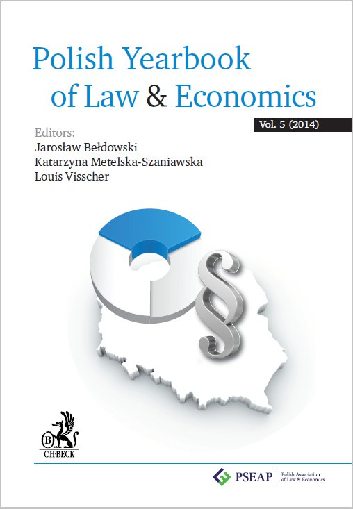Polish Yearbook of Law&Economics Vol. 5 (2014) - Ebook (Książka PDF) do pobrania w formacie PDF