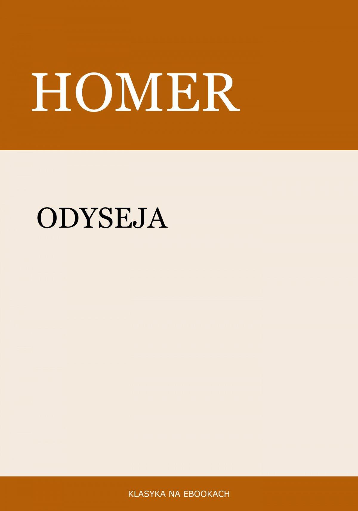 Odyseja - Ebook (Książka EPUB) do pobrania w formacie EPUB