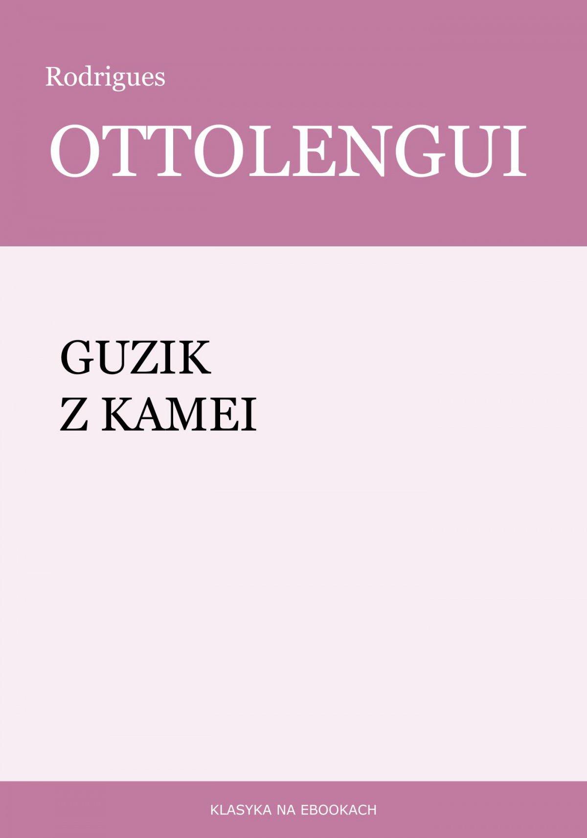Guzik z kamei - Ebook (Książka EPUB) do pobrania w formacie EPUB