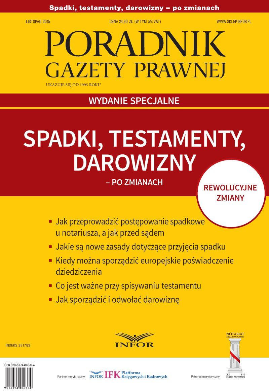 Poradnik Gazety Prawnej. Wydanie specjalne 2015/11 - Ebook (Książka PDF) do pobrania w formacie PDF