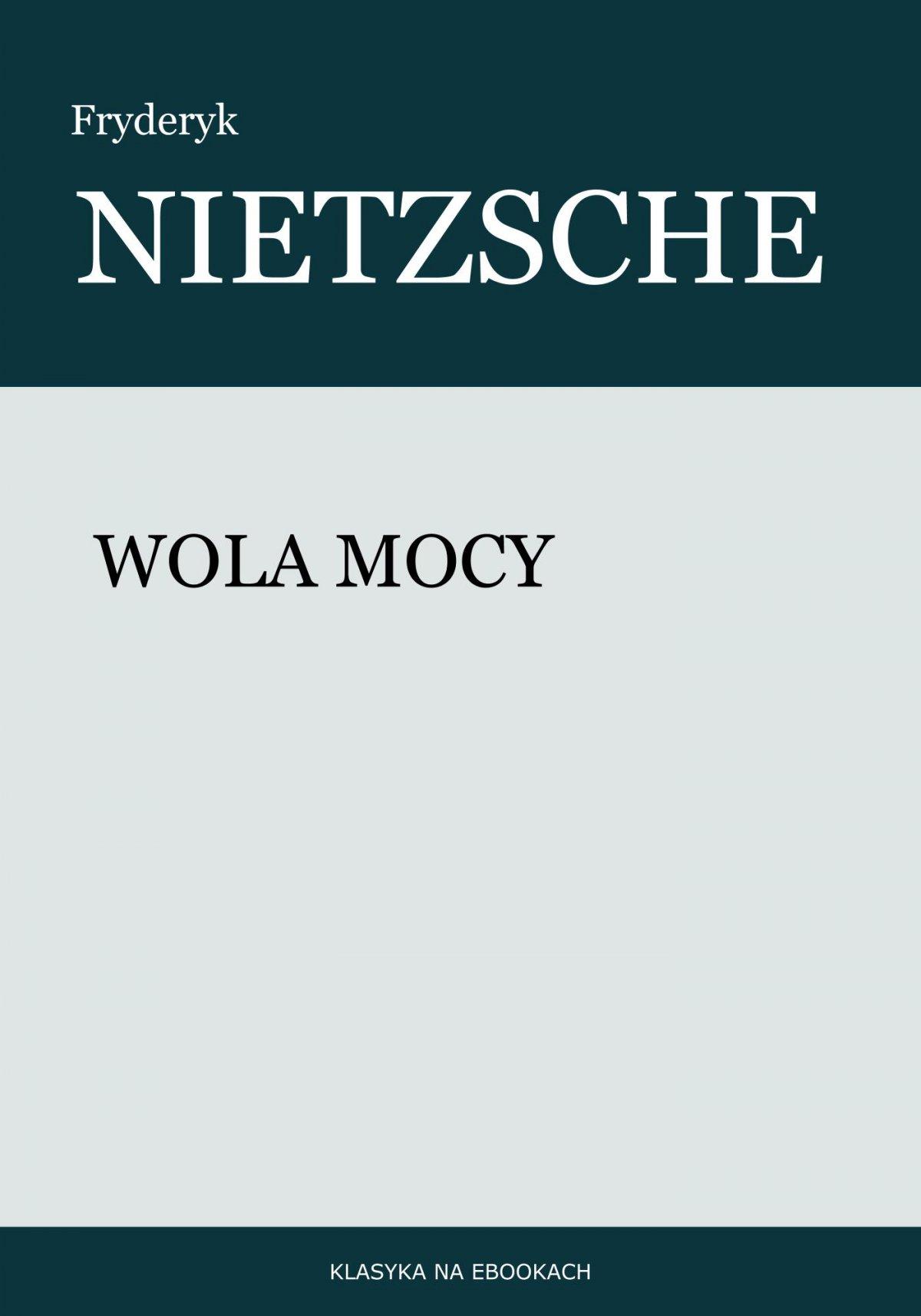 Wola mocy - Ebook (Książka na Kindle) do pobrania w formacie MOBI