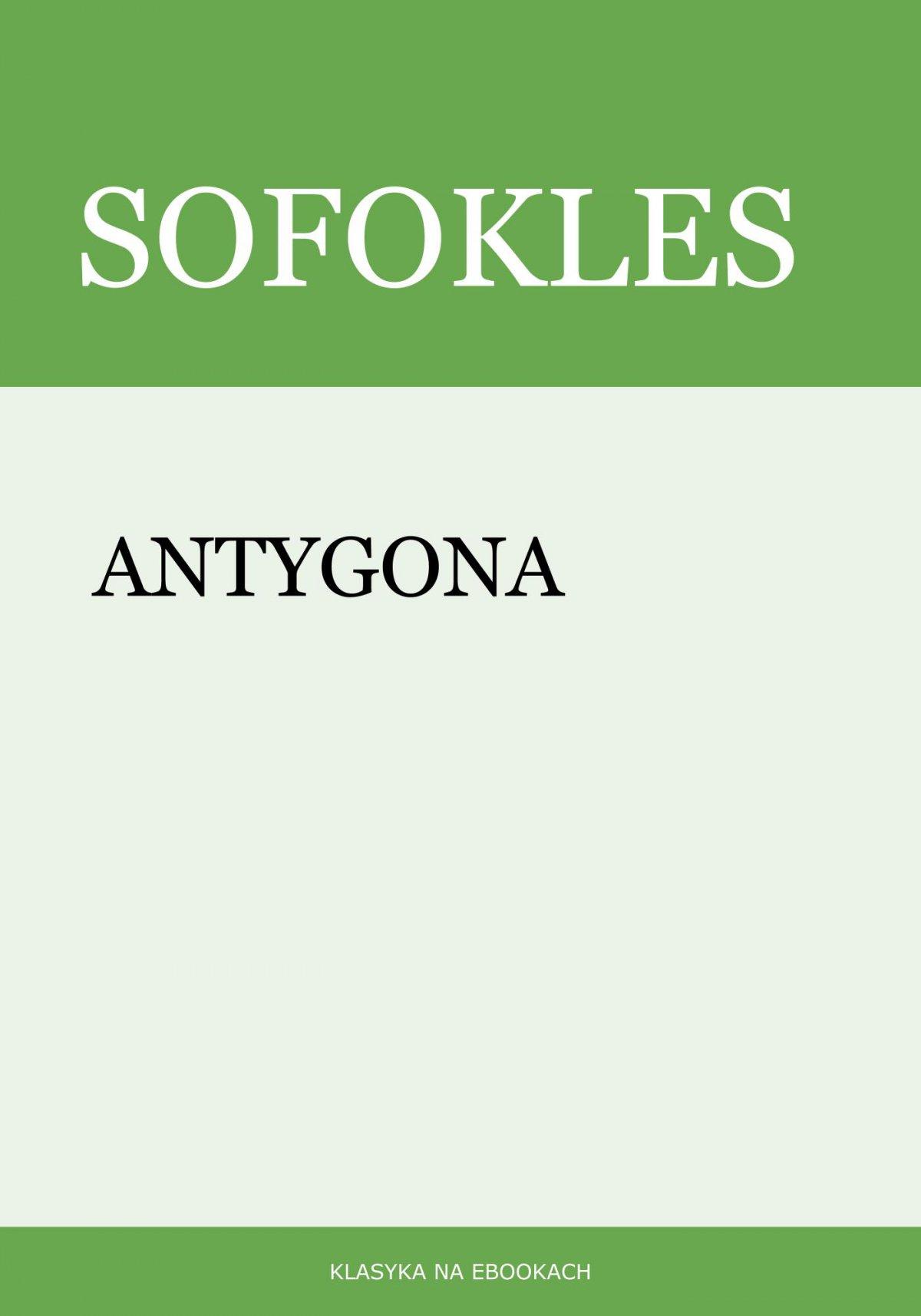 Antygona - Ebook (Książka na Kindle) do pobrania w formacie MOBI