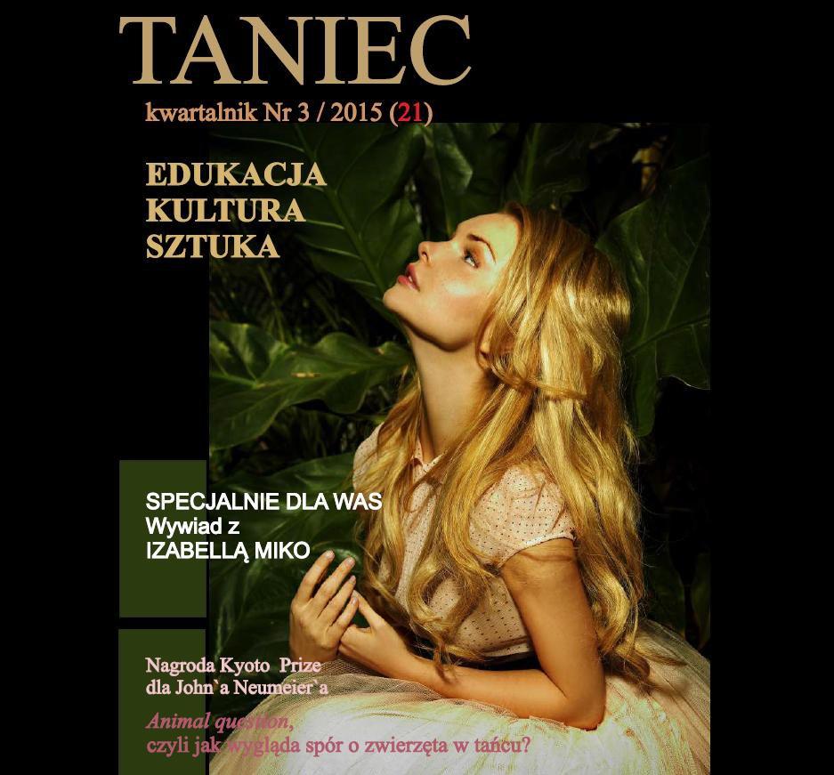 Taniec nr 3/2015 (21) - Ebook (Książka PDF) do pobrania w formacie PDF