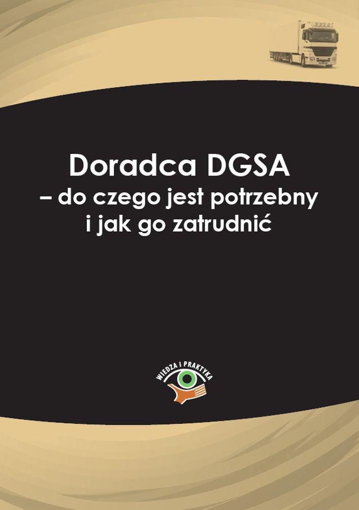 Doradca DGSA – do czego jest potrzebny i jak go zatrudnić - Ebook (Książka PDF) do pobrania w formacie PDF