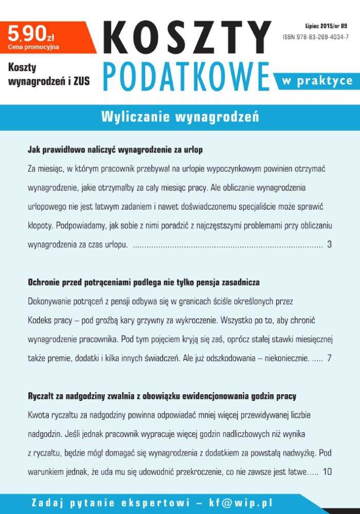 Wyliczanie wynagrodzeń - Ebook (Książka PDF) do pobrania w formacie PDF