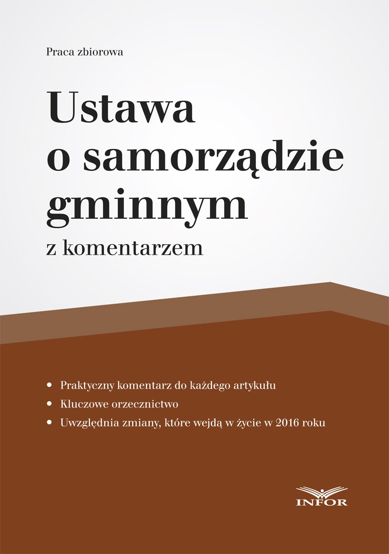 Ustawa o samorządzie gminnym - Ebook (Książka PDF) do pobrania w formacie PDF
