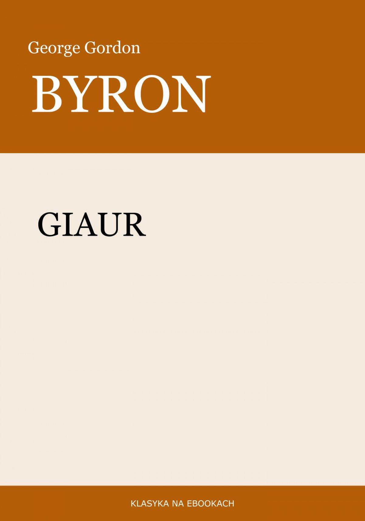 Giaur - Ebook (Książka na Kindle) do pobrania w formacie MOBI
