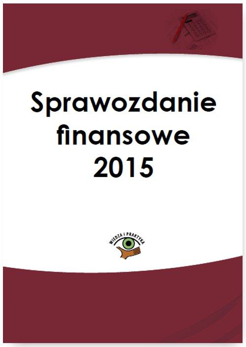 Sprawozdanie finansowe 2015 - Ebook (Książka PDF) do pobrania w formacie PDF
