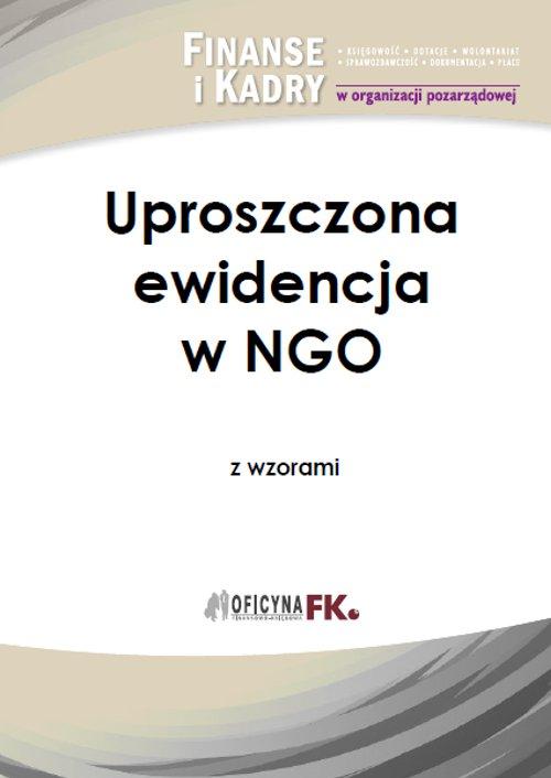 Uproszczona ewidencja w NGO z wzorami - Ebook (Książka PDF) do pobrania w formacie PDF