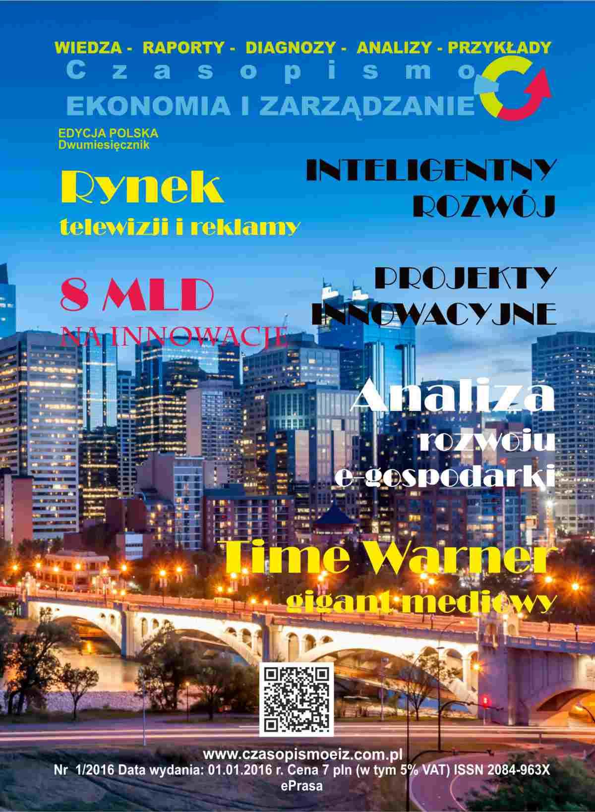 """Czasopismo """"Ekonomia i Zarządzanie"""" nr 1/ 2016 - Ebook (Książka PDF) do pobrania w formacie PDF"""