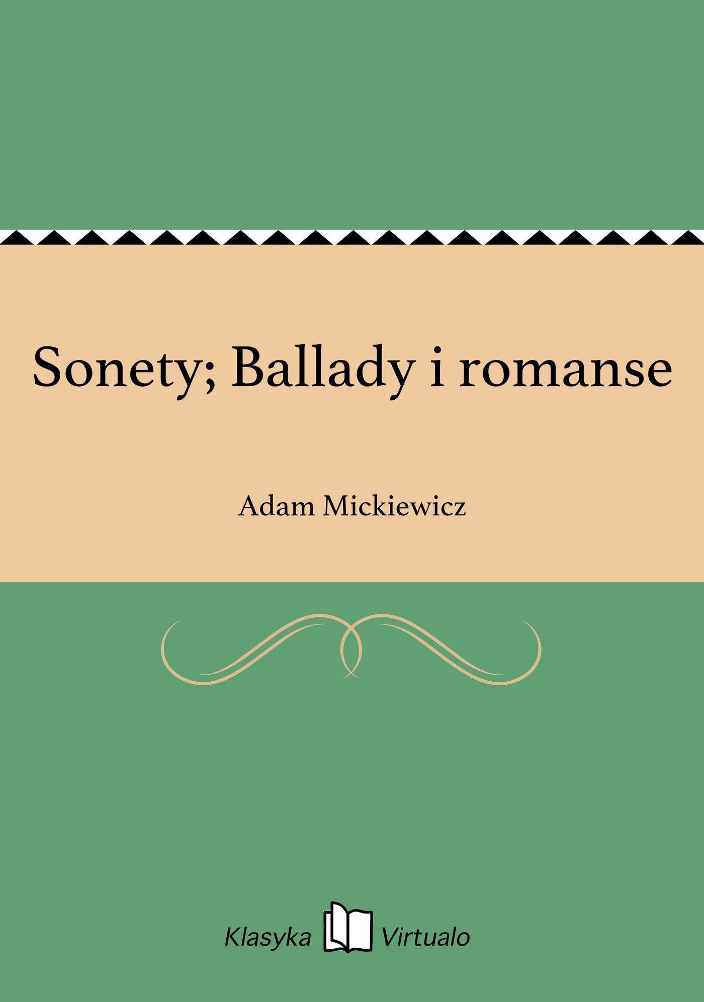 Sonety; Ballady i romanse - Ebook (Książka na Kindle) do pobrania w formacie MOBI