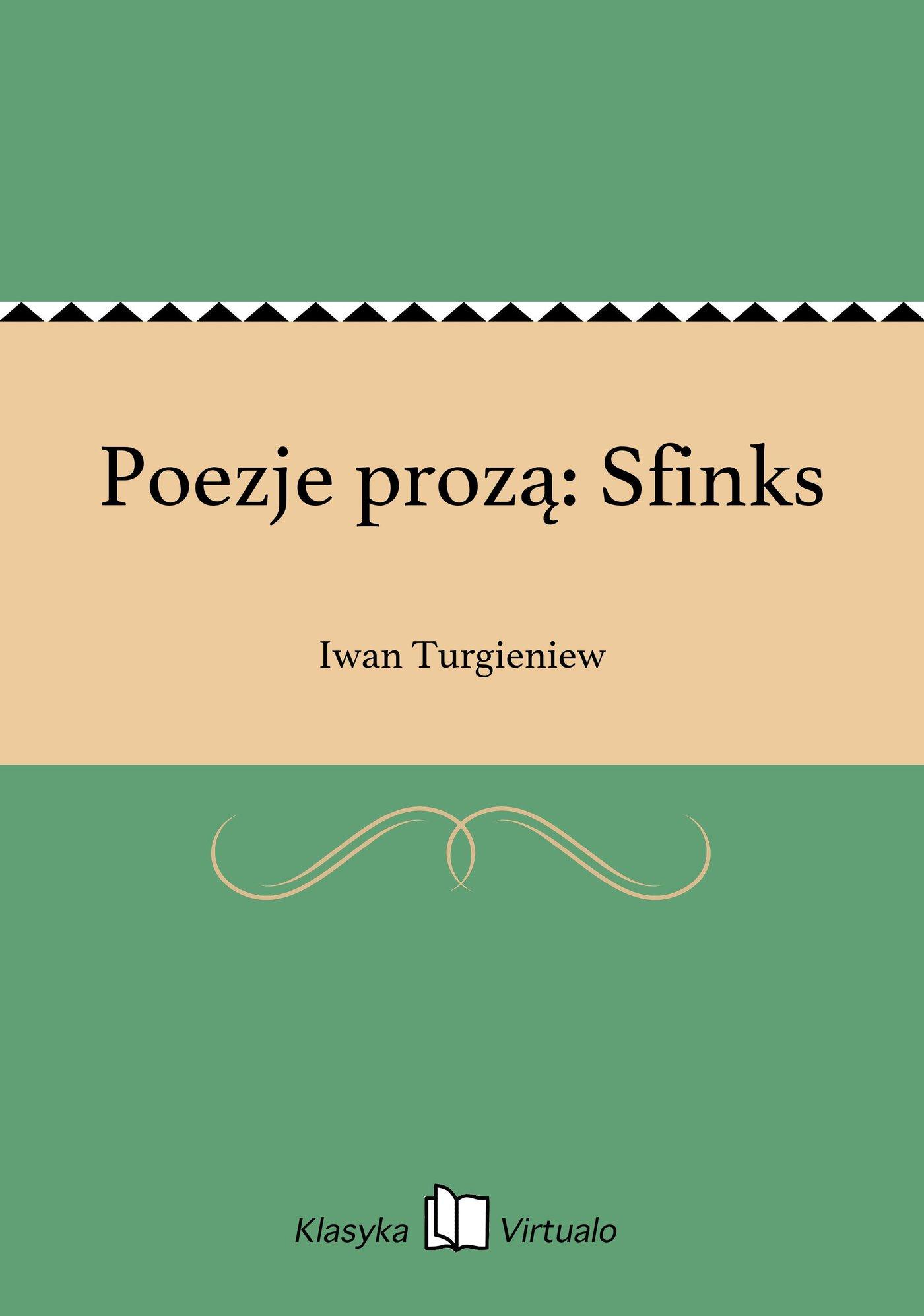 Poezje prozą: Sfinks - Ebook (Książka na Kindle) do pobrania w formacie MOBI
