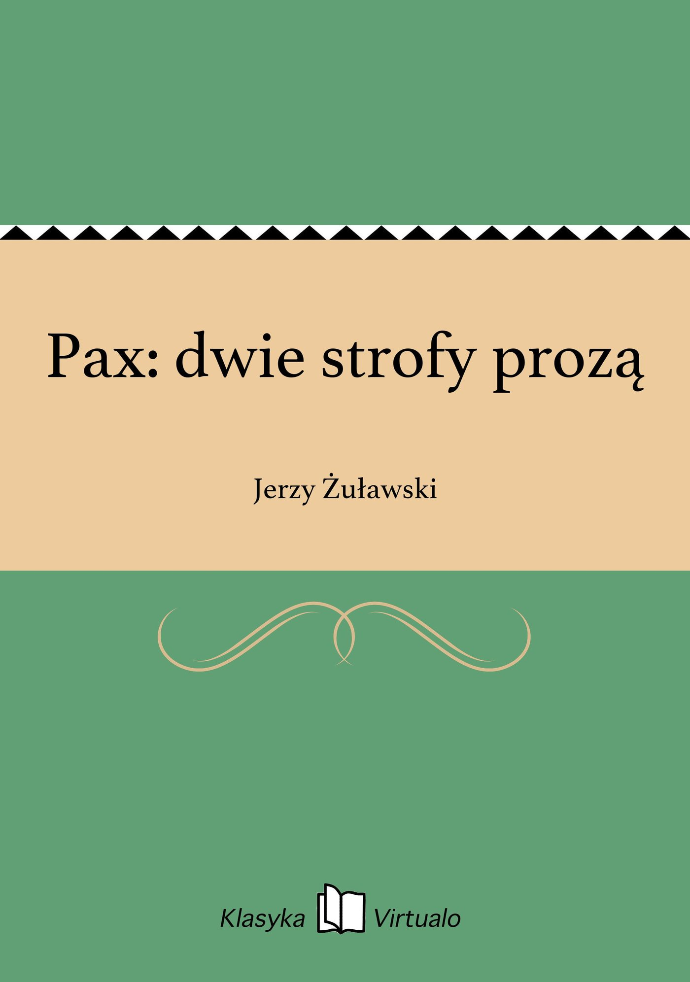 Pax: dwie strofy prozą - Ebook (Książka na Kindle) do pobrania w formacie MOBI