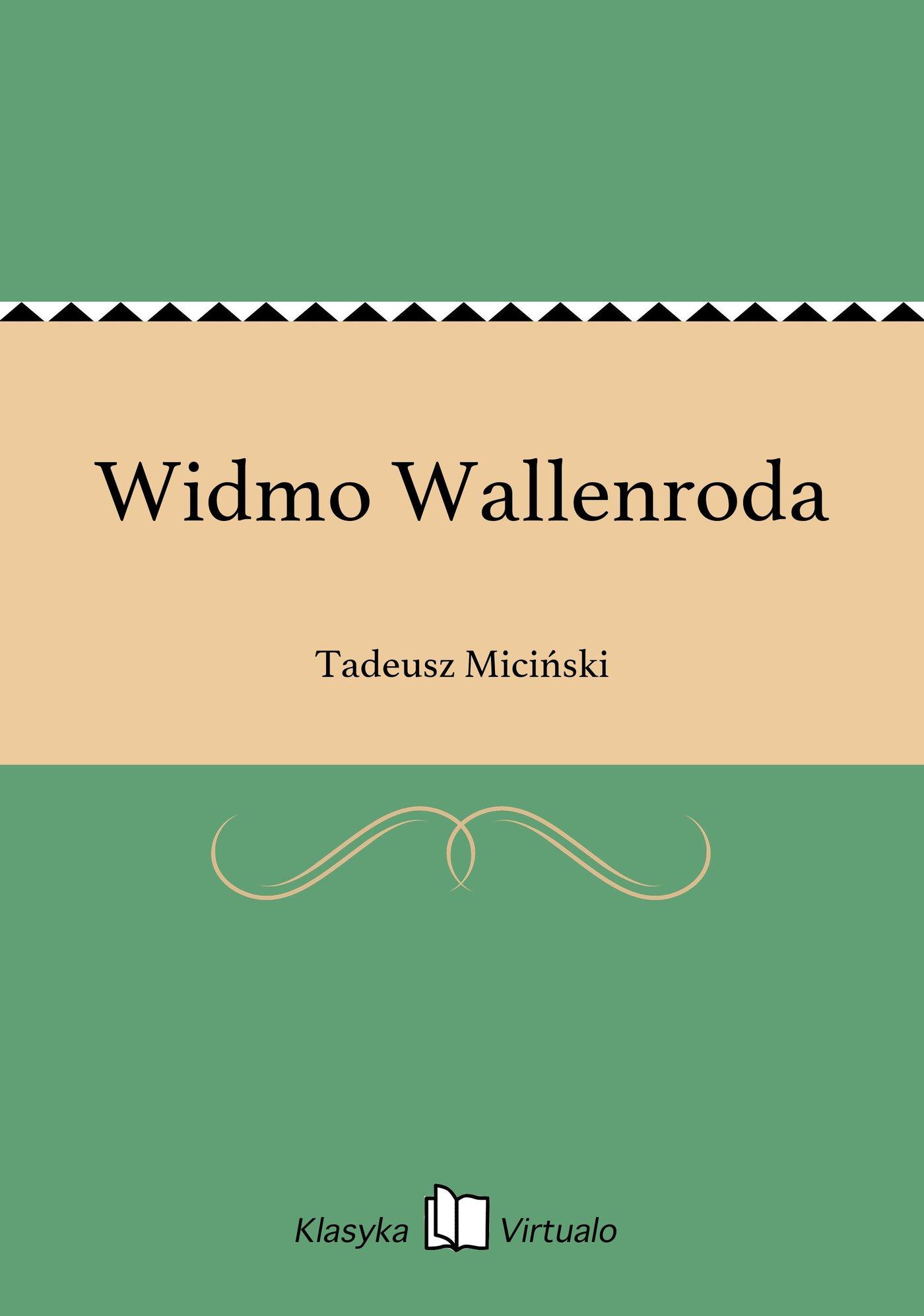 Widmo Wallenroda - Ebook (Książka na Kindle) do pobrania w formacie MOBI