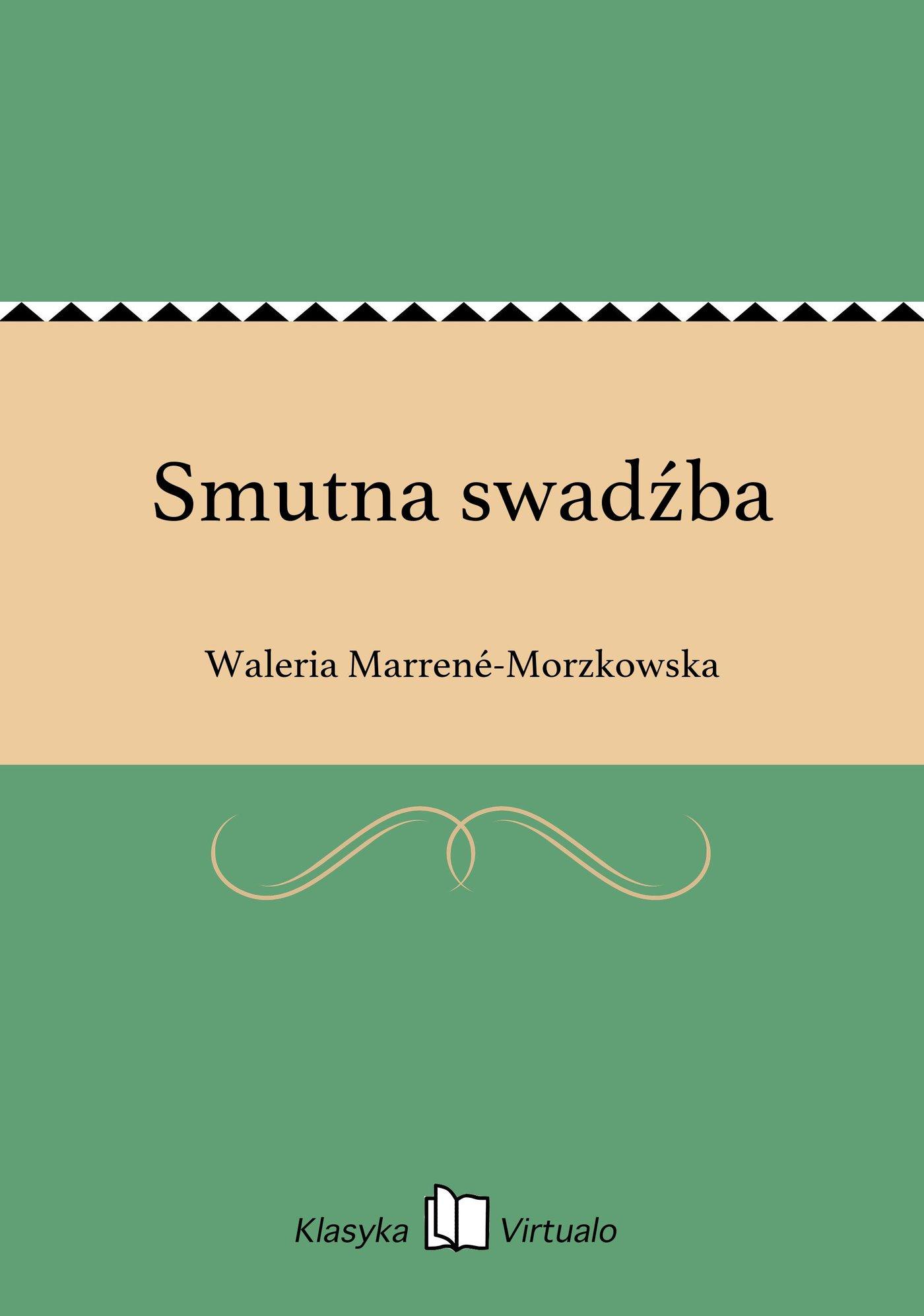 Smutna swadźba - Ebook (Książka na Kindle) do pobrania w formacie MOBI