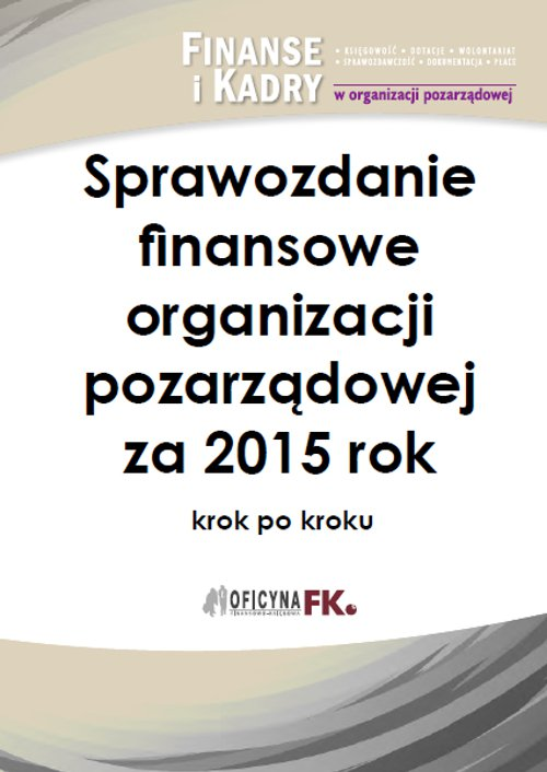 Sprawozdanie finansowe organizacji pozarządowej za 2015 rok - Ebook (Książka PDF) do pobrania w formacie PDF