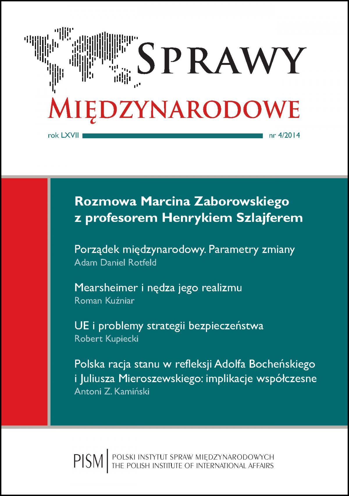 Sprawy Międzynarodowe 4/2014 - Ebook (Książka PDF) do pobrania w formacie PDF