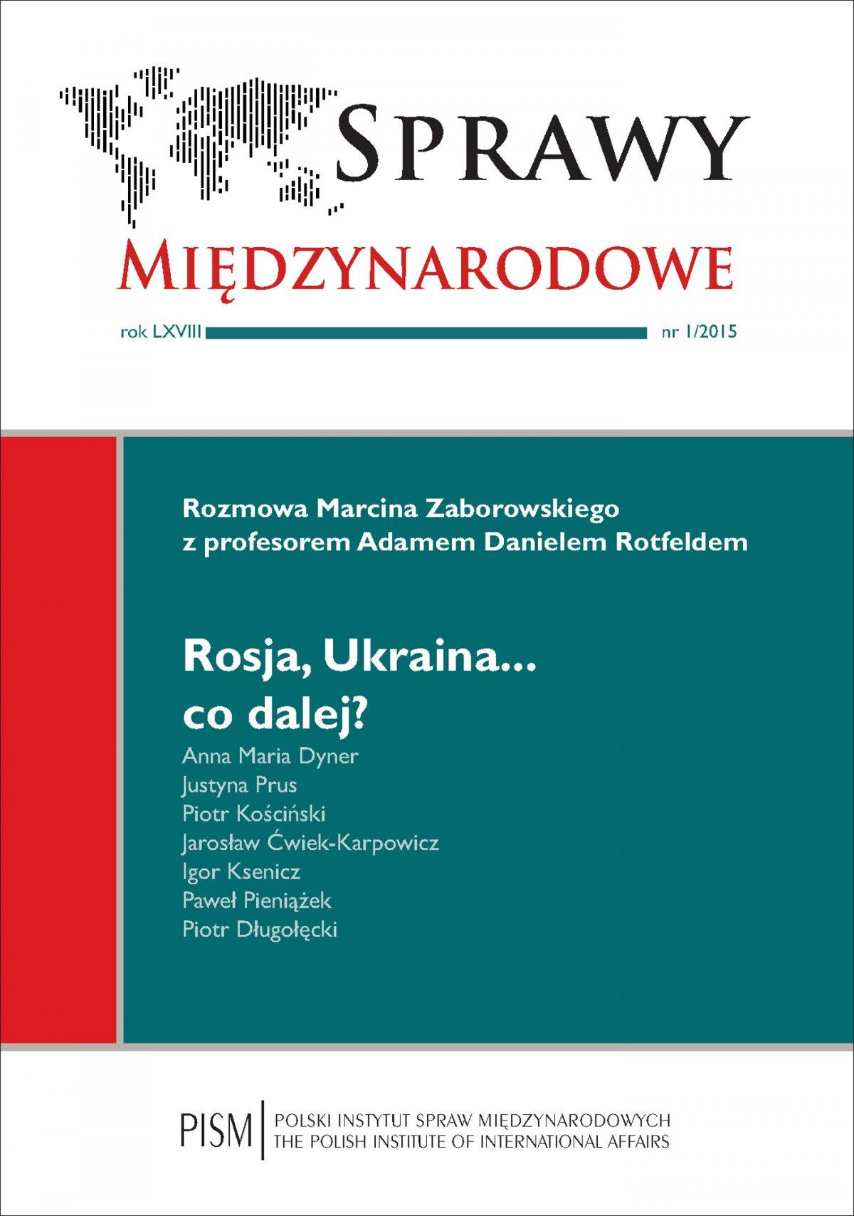 Sprawy Międzynarodowe 1/2015 - Ebook (Książka PDF) do pobrania w formacie PDF