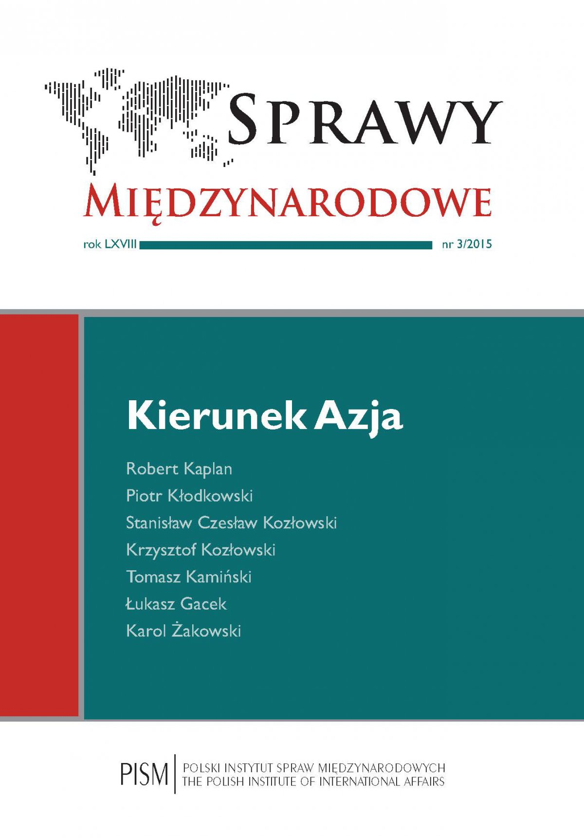 Sprawy Międzynarodowe 3/2015 - Ebook (Książka PDF) do pobrania w formacie PDF
