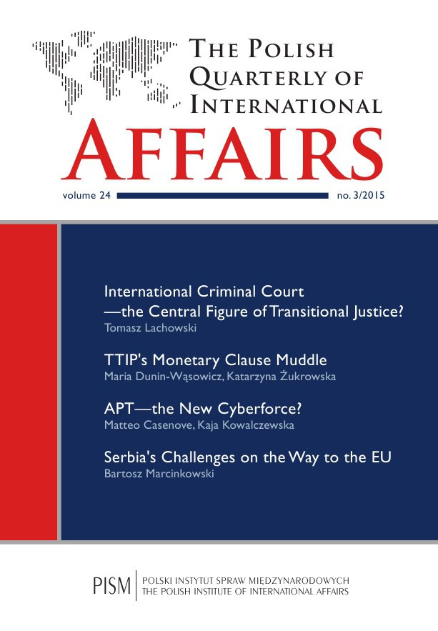 The Polish Quarterly of International Affairs 3/2015 - Ebook (Książka PDF) do pobrania w formacie PDF
