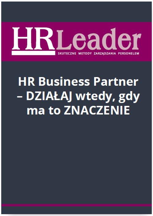HR Business Partner - działaj wtedy, gdy ma to znaczenie - Ebook (Książka PDF) do pobrania w formacie PDF