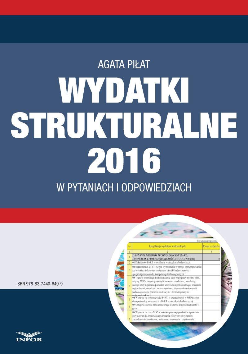Wydatki strukturalne 2016 w pytaniach i odpowiedziach - Ebook (Książka PDF) do pobrania w formacie PDF