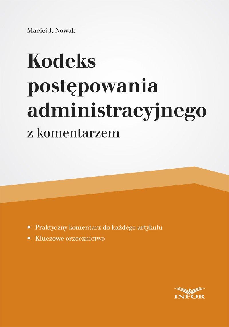 Kodeks postępowania administracyjnego - Ebook (Książka PDF) do pobrania w formacie PDF