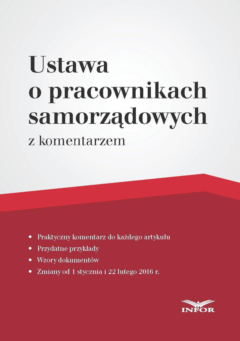 Ustawa o pracownikach samorządowych – komentarz - Ebook (Książka PDF) do pobrania w formacie PDF