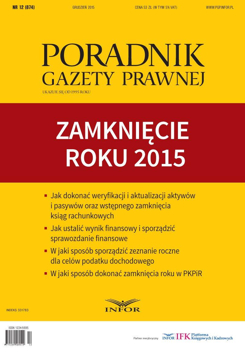 PGP 2015/12 Zamknięcie roku 2015 - Ebook (Książka PDF) do pobrania w formacie PDF