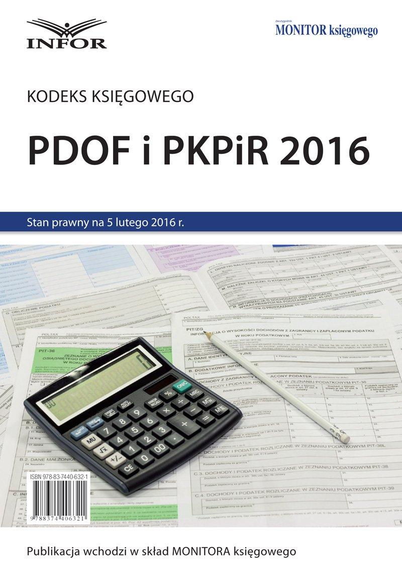 PDOF i PKPiR 2016 - Ebook (Książka PDF) do pobrania w formacie PDF