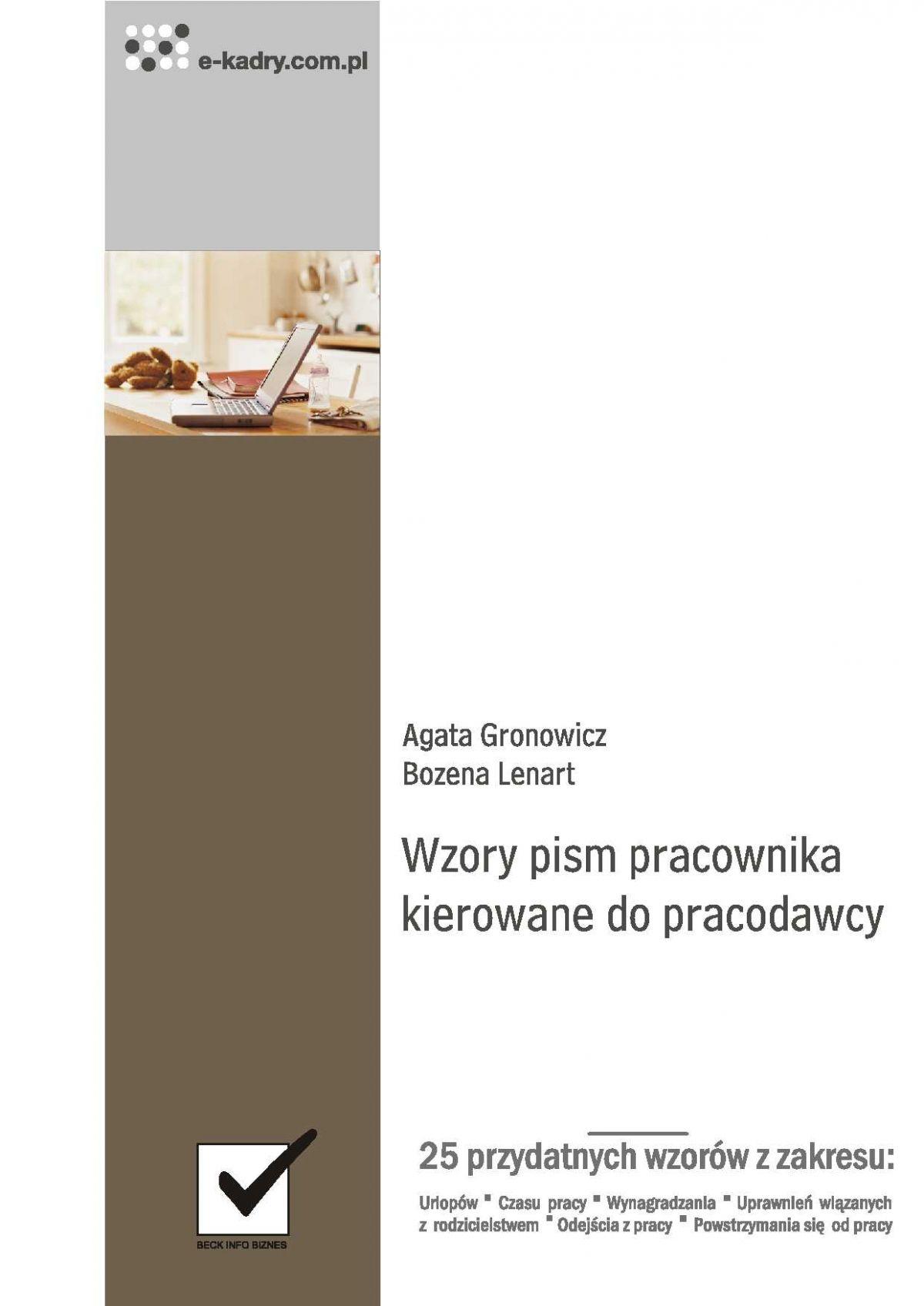 Wzory pism pracownika kierowane do pracodawcy - Ebook (Książka PDF) do pobrania w formacie PDF