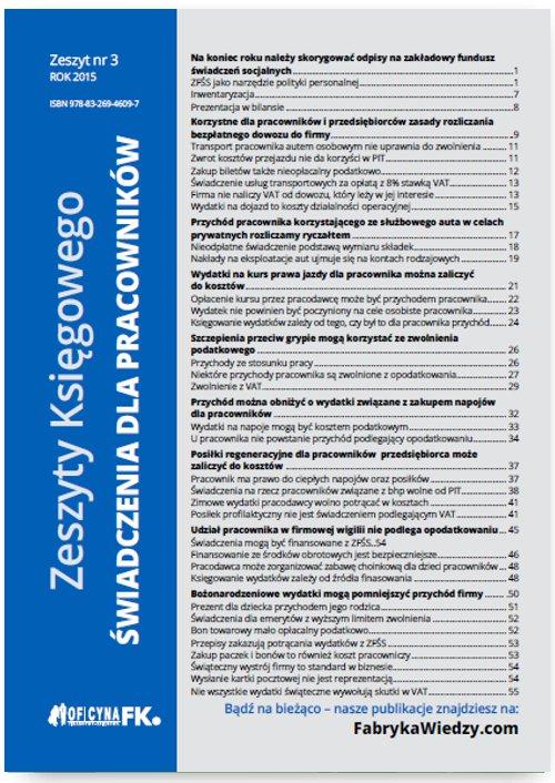 Zeszyty Księgowego. Nr 3. Świadczenia dla pracowników - Ebook (Książka PDF) do pobrania w formacie PDF