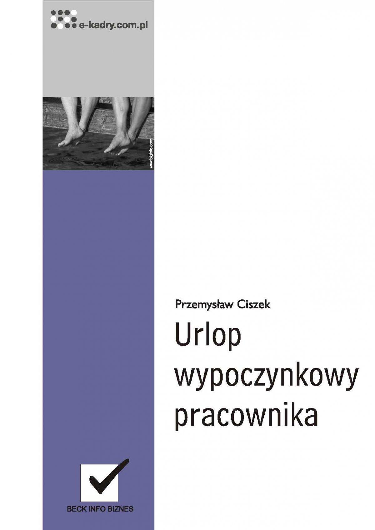 Urlop wypoczynkowy pracownika - Ebook (Książka PDF) do pobrania w formacie PDF