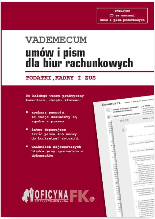 Vademecum umów i pism dla biur rachunkowych 2016 - Ebook (Książka PDF) do pobrania w formacie PDF
