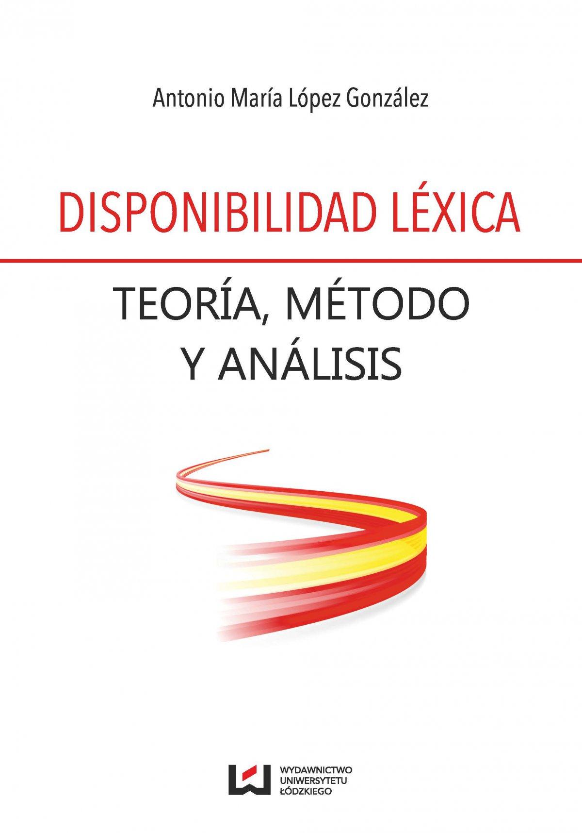 Disponibilidad léexica. Teoria, metodo y analisis - Ebook (Książka PDF) do pobrania w formacie PDF