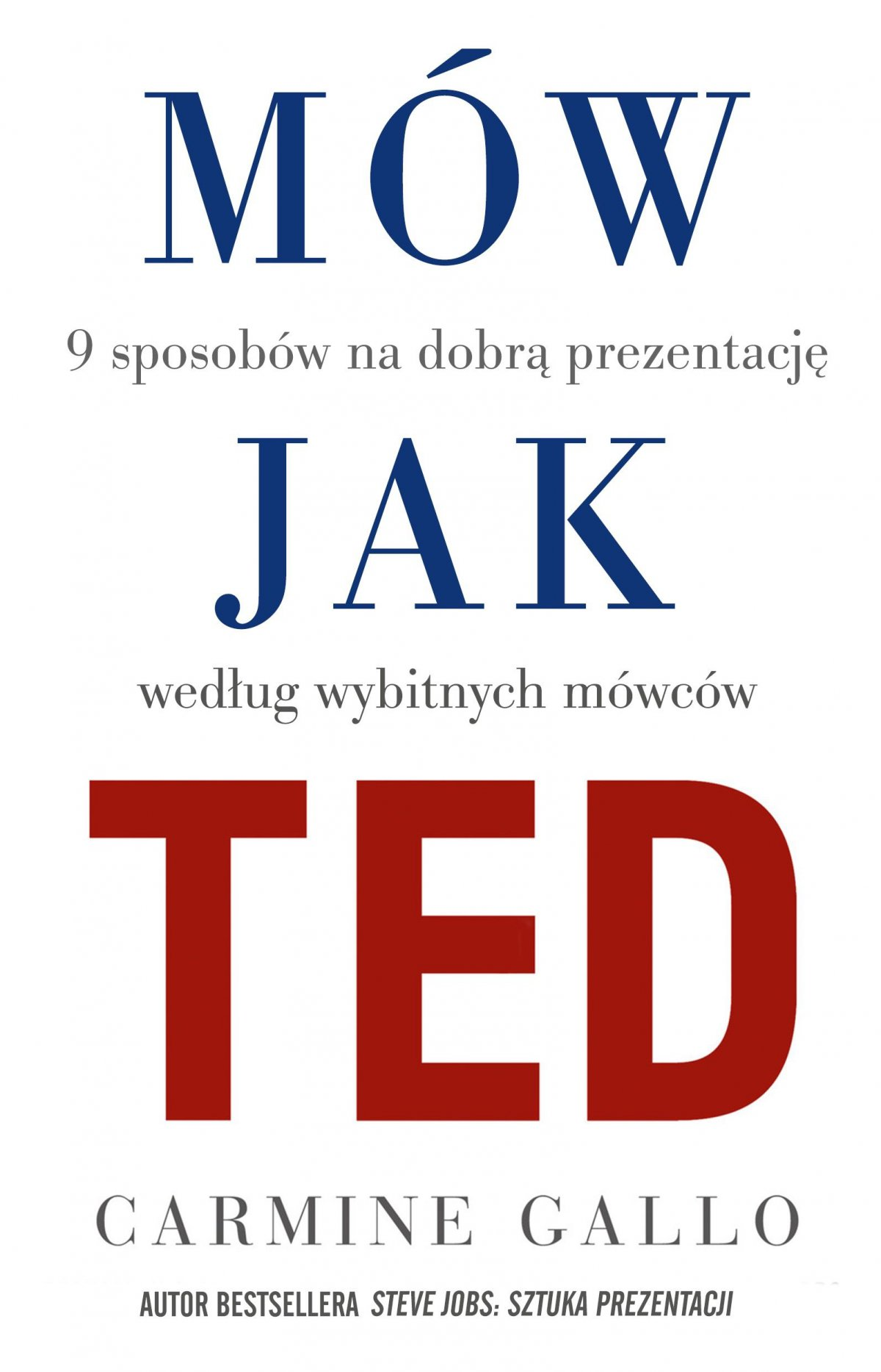 Mów jak TED. 9 sposobów na dobrą prezentację według wybitnych mówców - Ebook (Książka EPUB) do pobrania w formacie EPUB