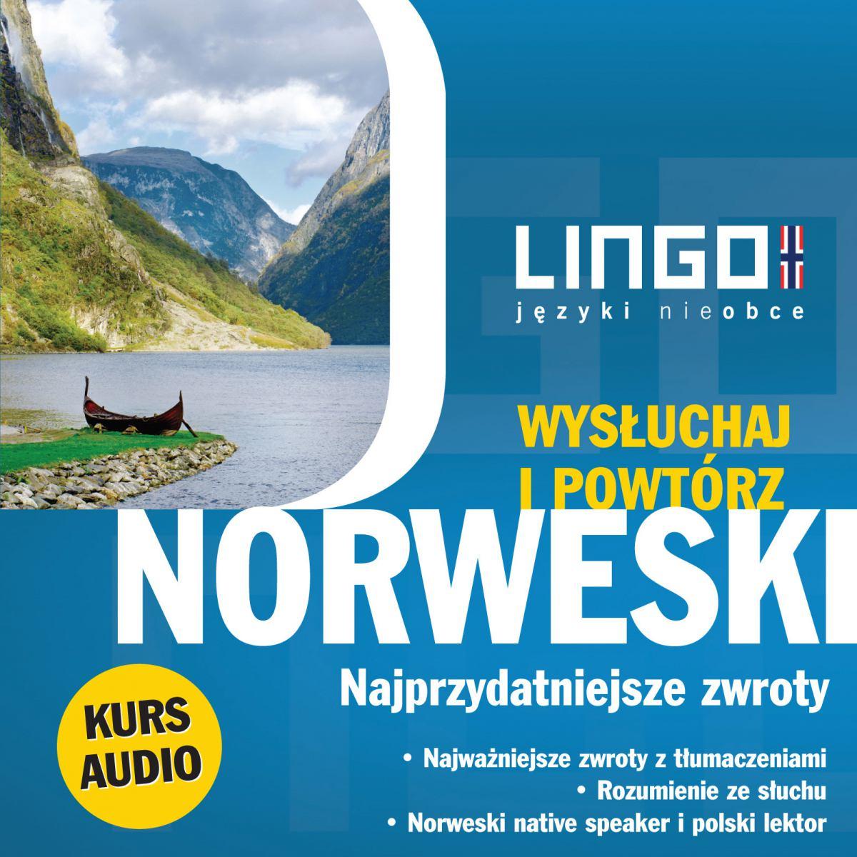 Norweski. Najprzydatniejsze zwroty. Wysłuchaj i powtórz - Audiobook (Książka audio MP3) do pobrania w całości w archiwum ZIP