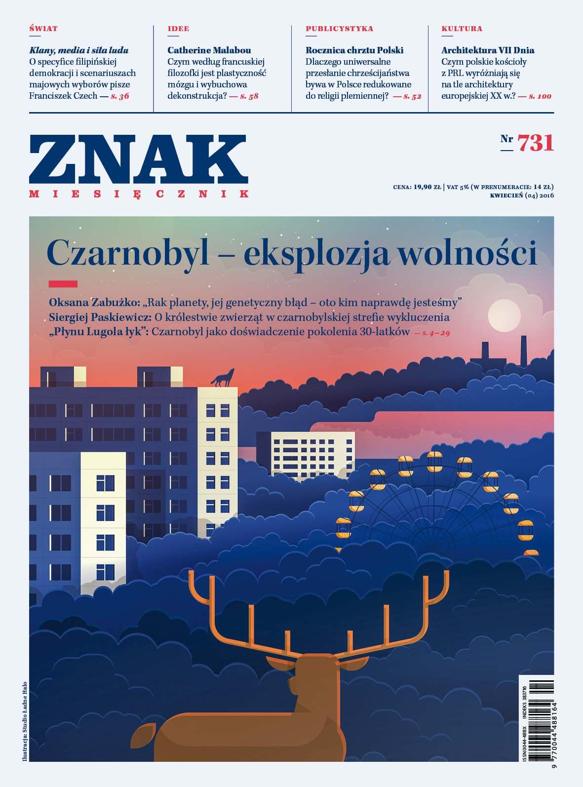 Miesięcznik Znak nr 731. Czarnobyl - eksplozja wolności - Ebook (Książka PDF) do pobrania w formacie PDF