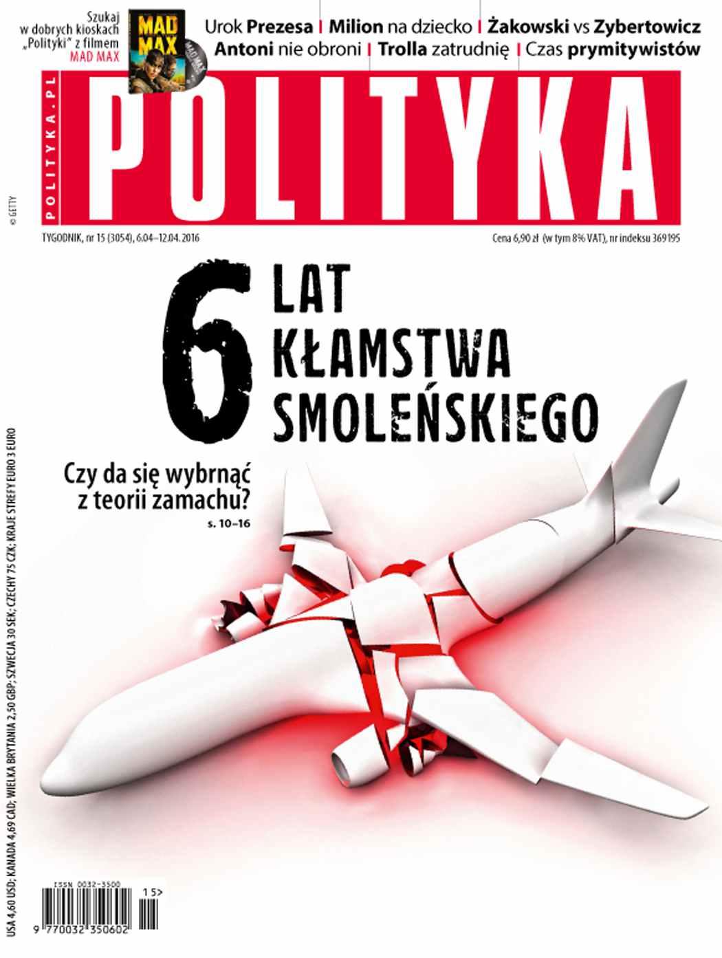 Polityka nr 15/2016 - Ebook (Książka PDF) do pobrania w formacie PDF