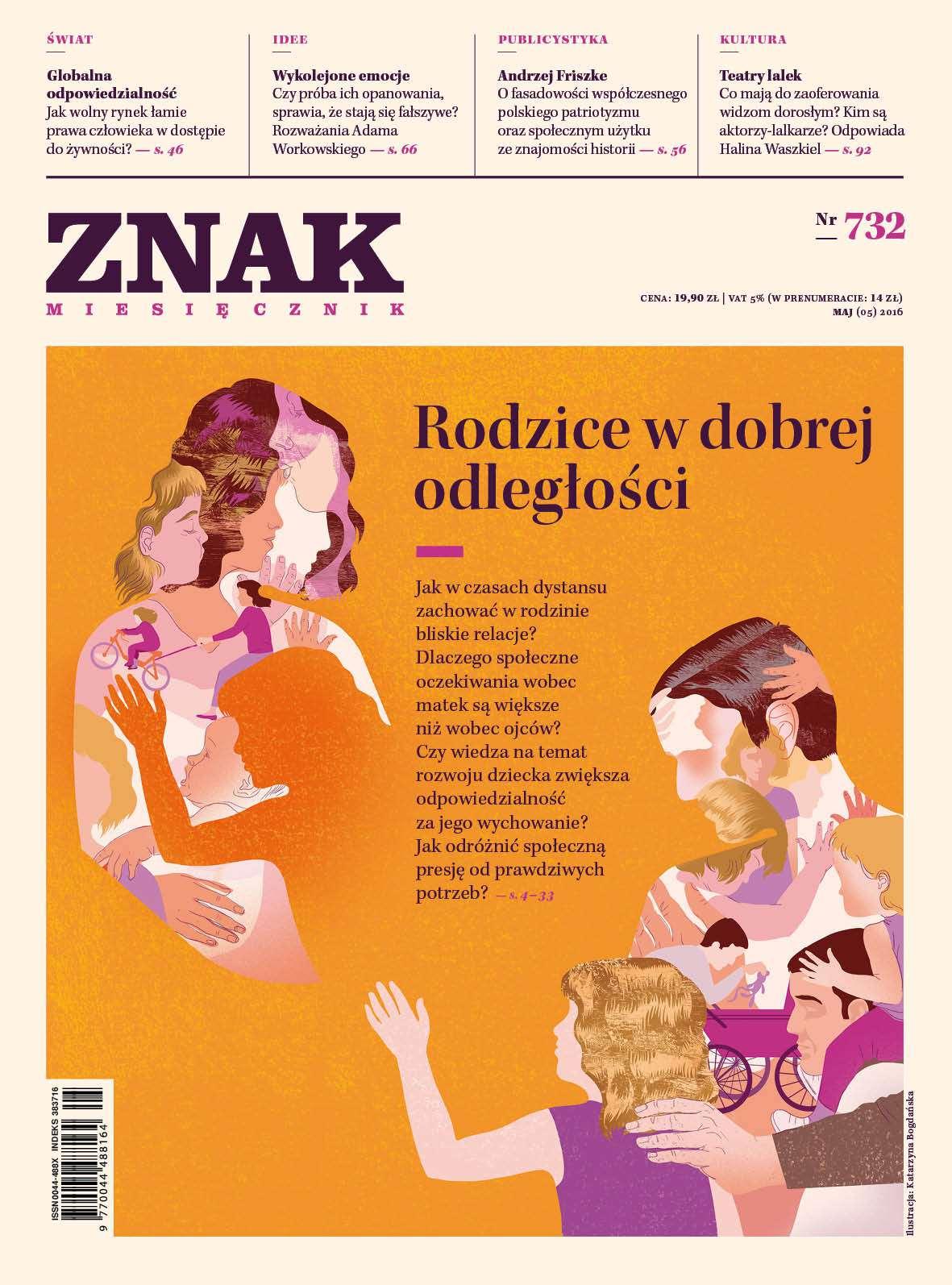 Miesięcznik Znak nr 732 - Rodzice w dobrej odległości - Ebook (Książka PDF) do pobrania w formacie PDF