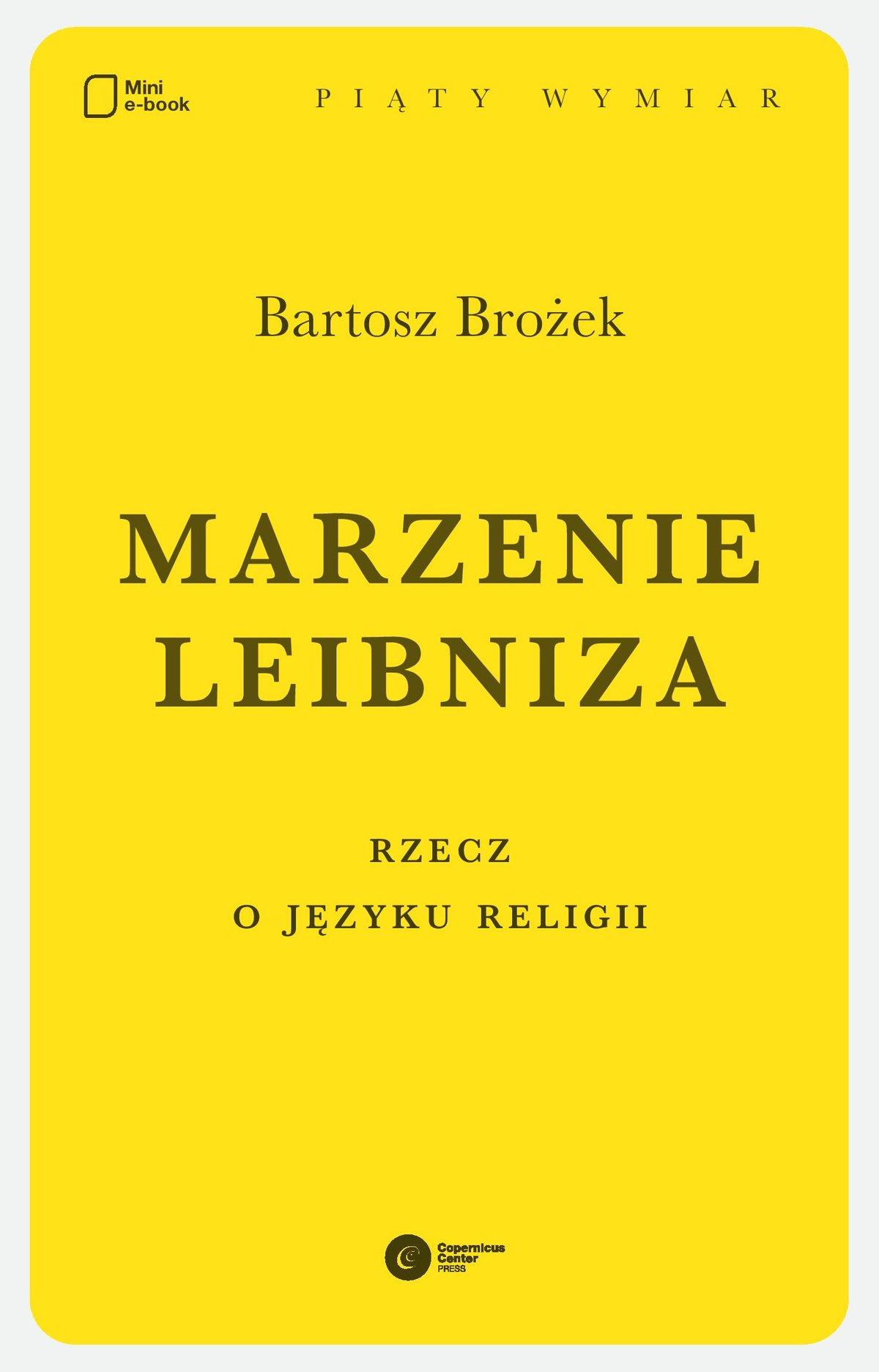 Marzenie Leibniza - Ebook (Książka EPUB) do pobrania w formacie EPUB