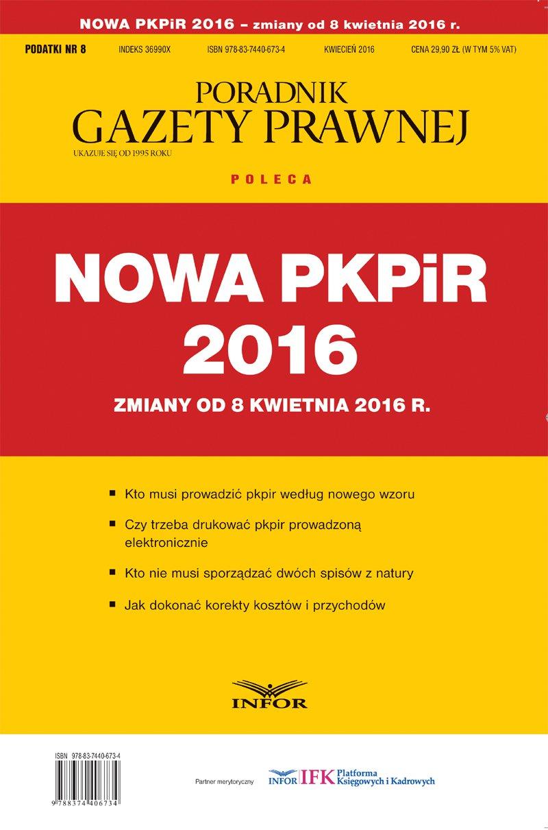 Nowa PKPiR - zmiany od 8 kwietnia - Ebook (Książka PDF) do pobrania w formacie PDF