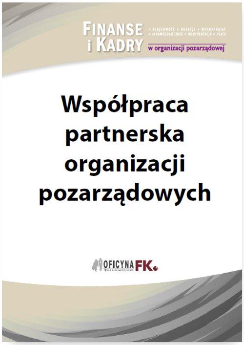 Współpraca partnerska organizacji pozarządowych - Ebook (Książka PDF) do pobrania w formacie PDF