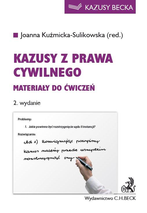 Kazusy z prawa cywilnego. Materiały do ćwiczeń. Wydanie 2 - Ebook (Książka PDF) do pobrania w formacie PDF