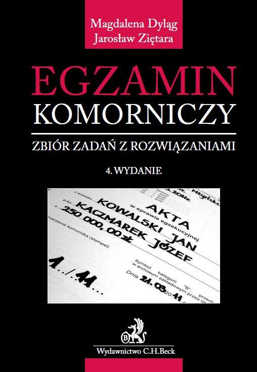 Egzamin komorniczy. Zbiór zadań z rozwiązaniami. Wydanie 4 - Ebook (Książka PDF) do pobrania w formacie PDF