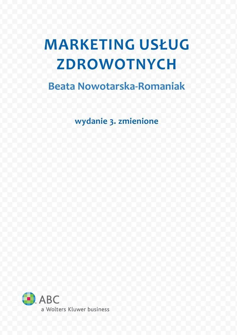 Marketing usług zdrowotnych - Ebook (Książka PDF) do pobrania w formacie PDF