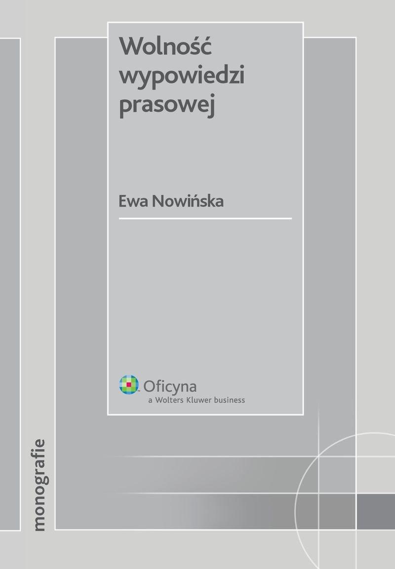 Wolność wypowiedzi prasowej - Ebook (Książka PDF) do pobrania w formacie PDF