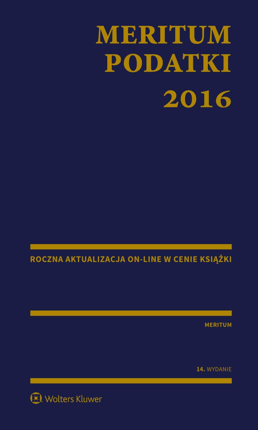 MERITUM Podatki 2016 - Ebook (Książka PDF) do pobrania w formacie PDF